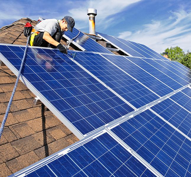 Clean Energy Solar Panel Image