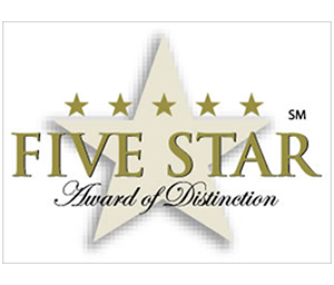 Five Star Award of Distinction